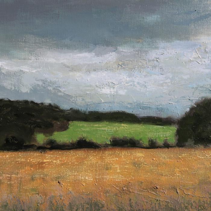 """Vers Champignol"", oil on canvas, 25½"" x 39¼"" (65 x 100cm)"