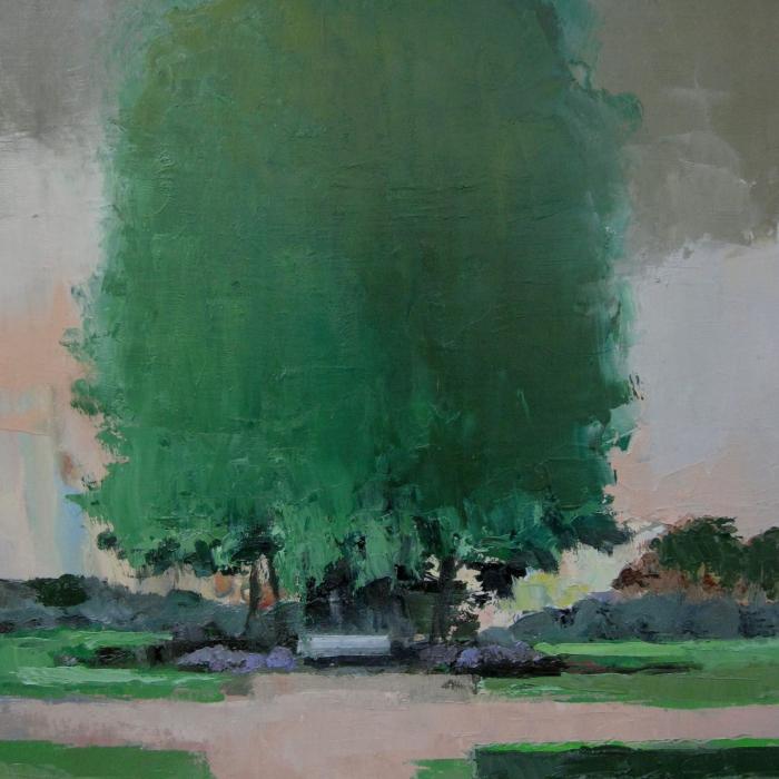 """""""Parc Monceau"""", oil on canvas, 36¼"""" x 25½"""" (92 x 65cm)"""