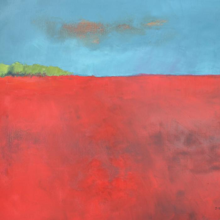 """Bloody Field"", oil on canvas, 35"" x 45½"" (89 x 116cm)"