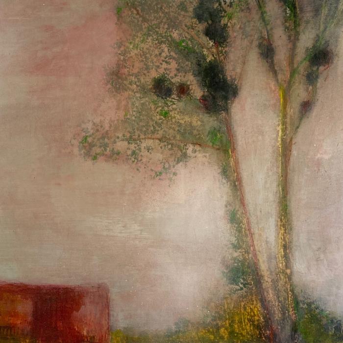 """""""Une certaine confiance"""", mixed media on canvas, 19¾"""" x 24¾"""" (50 x 61cm)"""