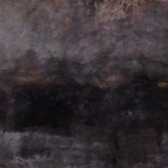 """""""Up the Hudson, Dawn"""", watercolor on paper, 7"""" x 45 ½"""" (18 x 115cm)"""