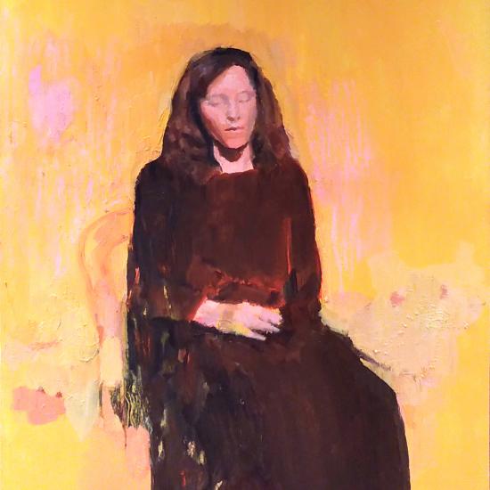 """Isabelle"", oil on board, 23½"" x 15¾"" (60 x 40cm)"