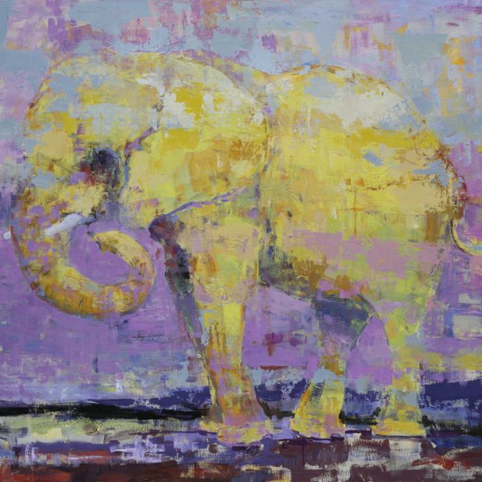 """""""Dancing queen"""", oil on canvas, 43.25"""" x 43.5"""" (110 x 110cm)"""