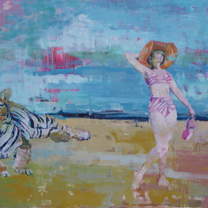 """Lazy sunbathers"", oil on canvas, 31"" x 40"" (78.7 x 101.6cm)"