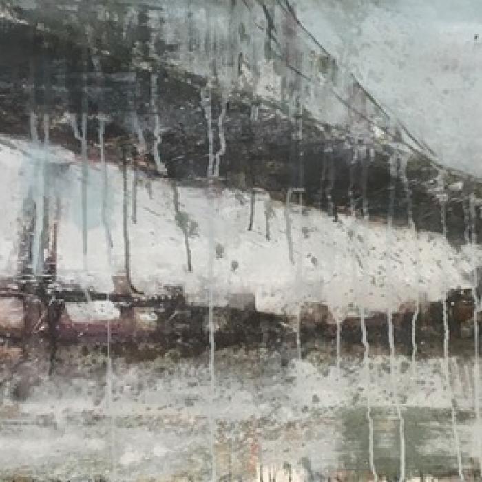 """Brooklyn II"", watercolor on paper, 28"" x 59"" (71 x 150cm)"