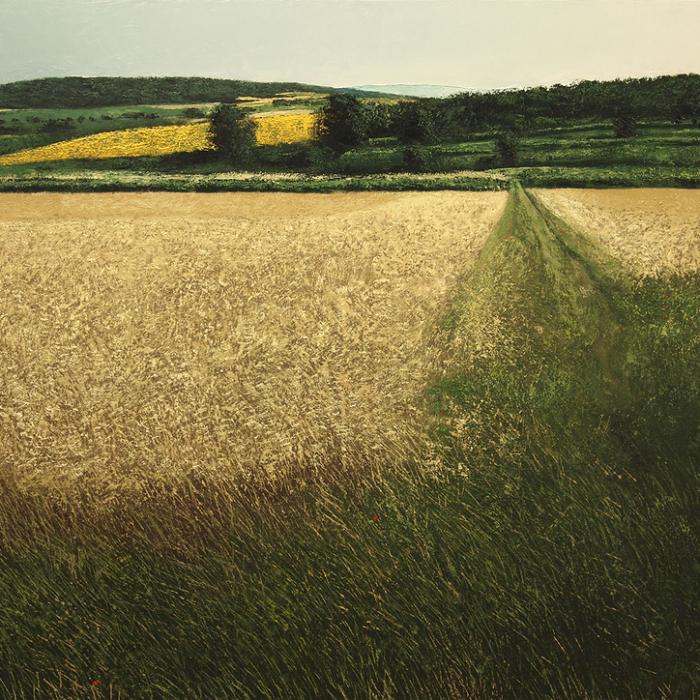 """Chemin en été"", oil on canvas, 59"" x 78¾"" (150 x 200cm)"