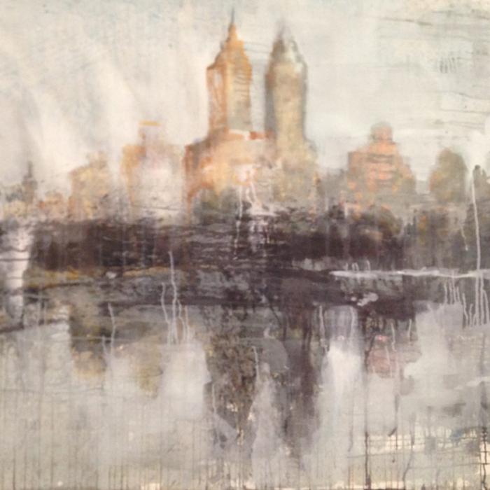 """""""Central Park West"""", watercolor on paper, 40"""" x 60"""" (100 x 152cm)"""