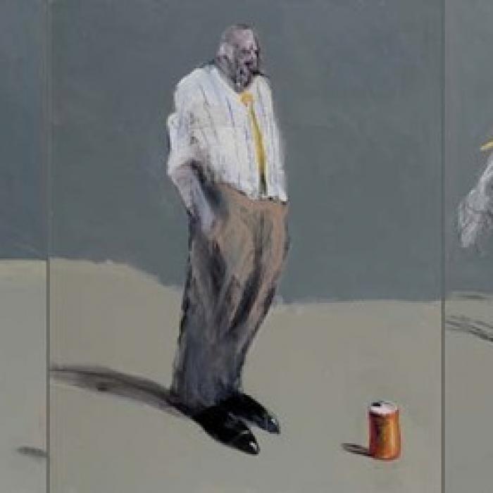 """Drop Soda"", oil on canvas, 36"" × 87½"" (91.4 × 222.3cm)"