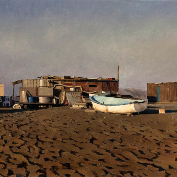 """""""Escena Almeria"""", oil on linen, 23¼"""" x 28¾"""" (54 x 73cm)"""
