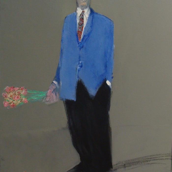 """""""Le rendez-vous"""", mixed media on canvas, 36"""" x 28¾"""" (91 x 73cm)"""