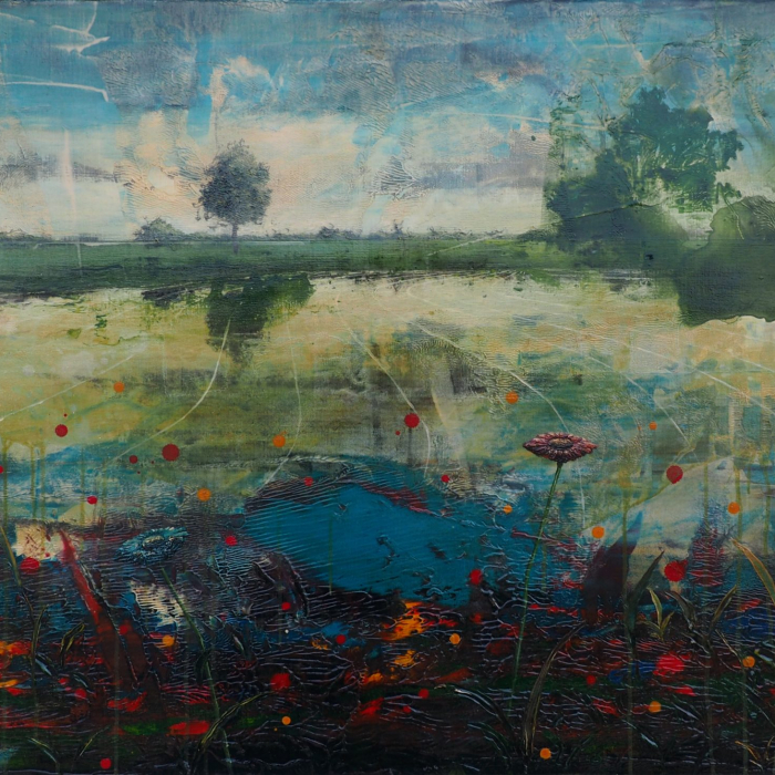"""""""Long gone..."""", acrylic and oil on canvas, 31½"""" x 55"""" (80 x 140cm)"""