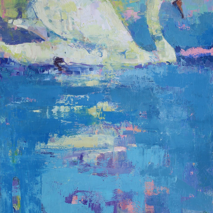 """No sense of time"", oil on canvas, 60"" x 32"" (152 x 81cm)"