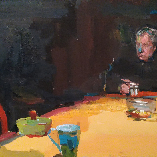 """""""Pierre Dailly au nez bleu"""", oil on board, 15¾"""" x 23½"""" (40 x 60cm)"""