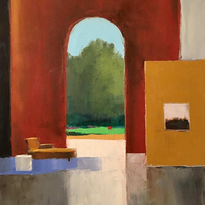 """""""Recamier"""", oil on canvas, 45"""" x 35"""" (114 x 89cm)"""