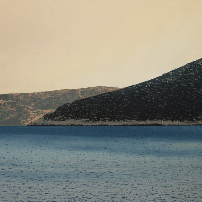 """""""Sifnos,"""" oil on canvas, 39½"""" x 59"""" (100 x 150cm)"""