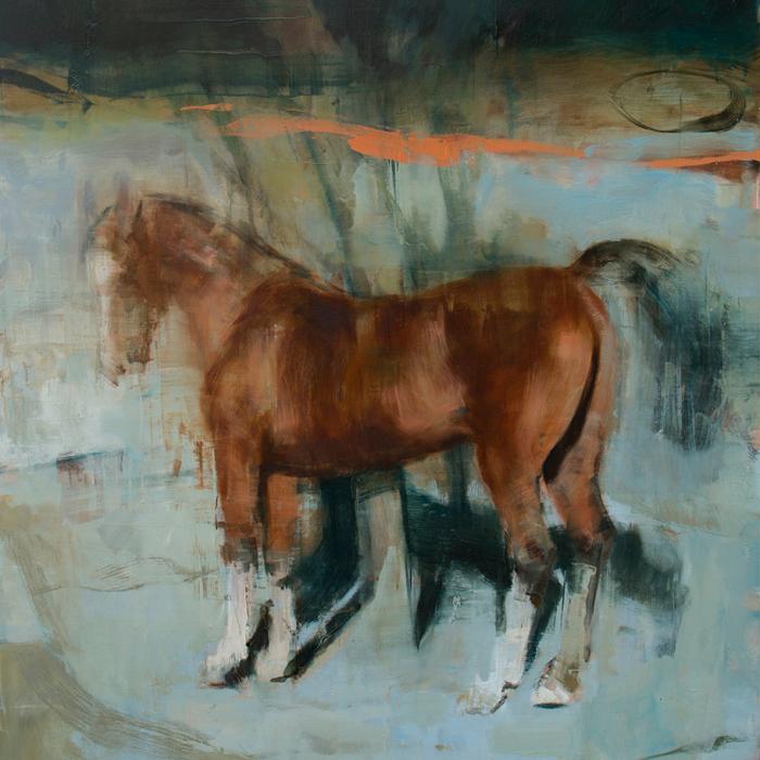"""""""Equus no 11"""", oil on canvas, 62"""" x 55"""" (157.5x140cm)"""