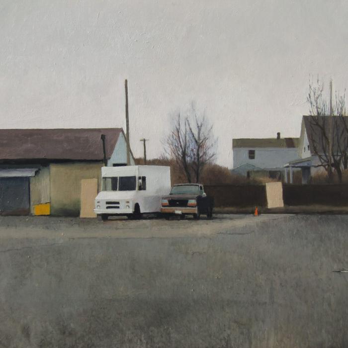 """Winter park"", oil on canvas, 21"" x 29"" (54 x 73cm)"