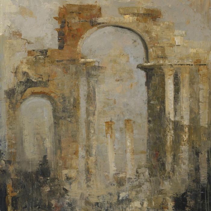"""Palmyra"", Oil and wax on canvas, 57½"" x 45"" (146 x 114cm)"