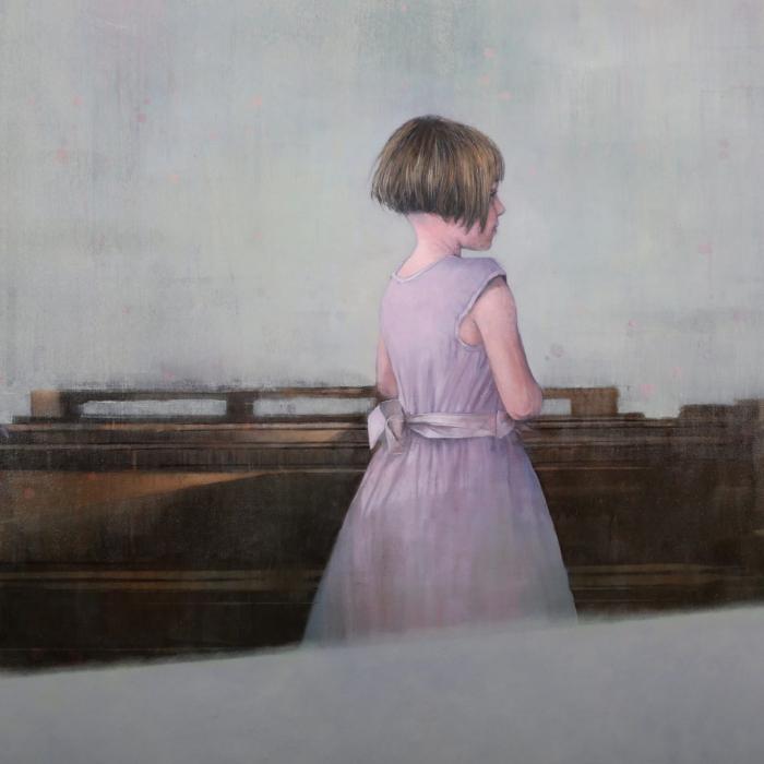 """""""Olivia"""", Acrylic on canvas, 40"""" x 70"""" (102 x 178cm)"""