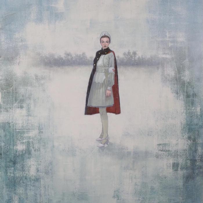 """""""The Nurse"""", Acrylic on canvas, 48"""" x 40"""" (122 x102cm)"""